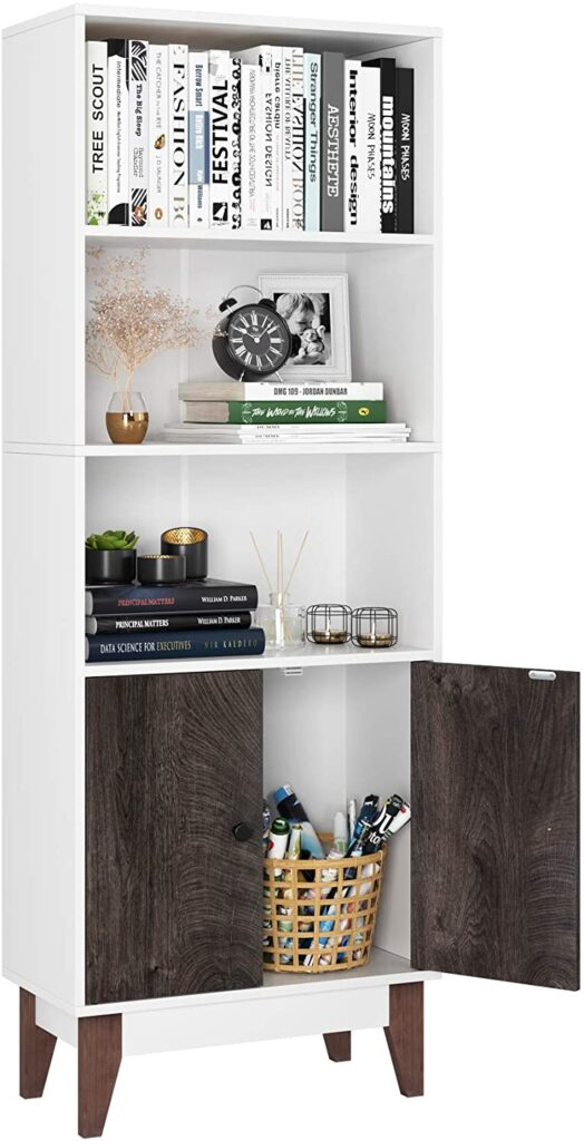 Homfa 4 Tier Bookcase Storage Cabinet