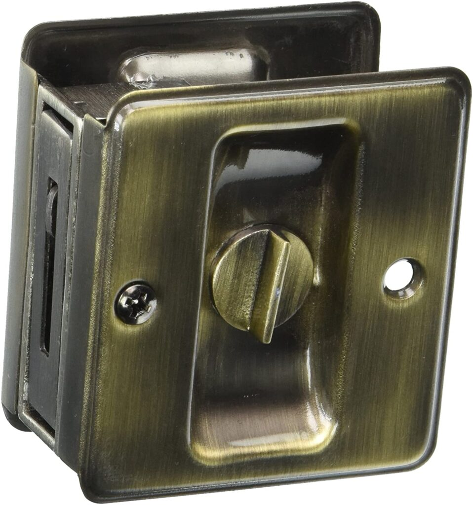 "Schlage 991 1-3/4""*2-1/4"" Privacy Pocket Door Lock"