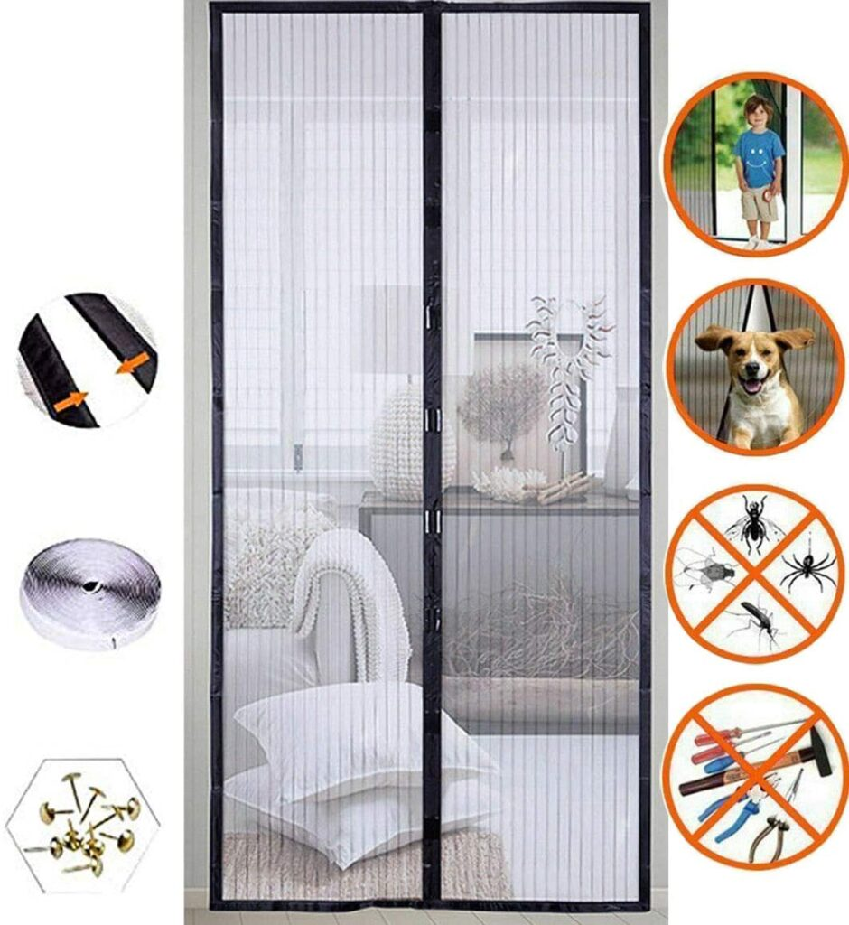 Mose Cafolo Hands Free Mesh Screen Net Door