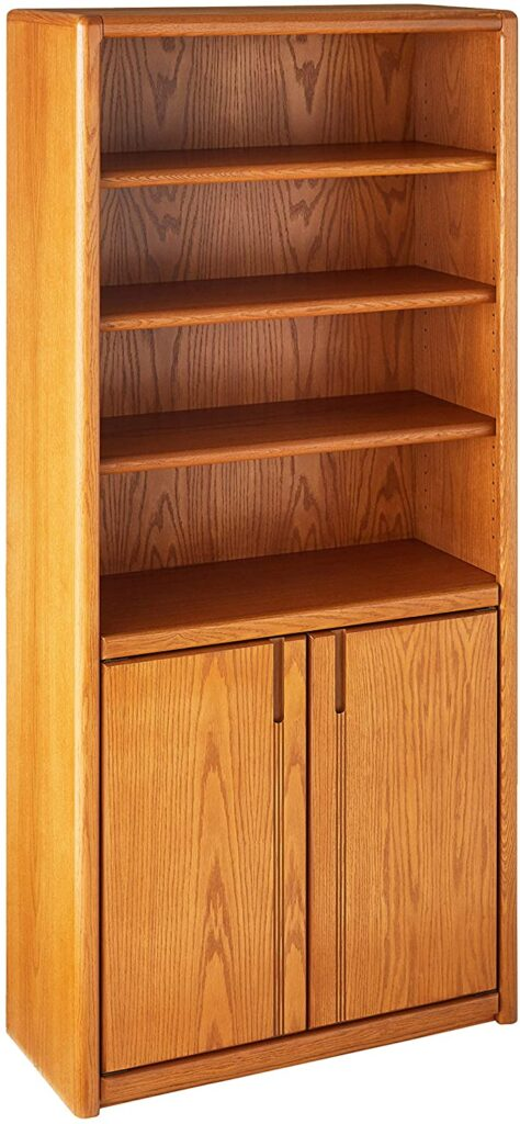 Martin Furniture Contemporary Library Bookcase with Lower Doors