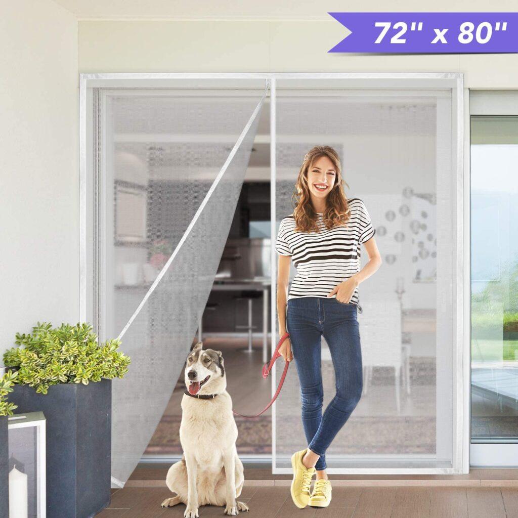 """Titan Mall 72x80"""" Upgraded Magnetic Screen Door"""