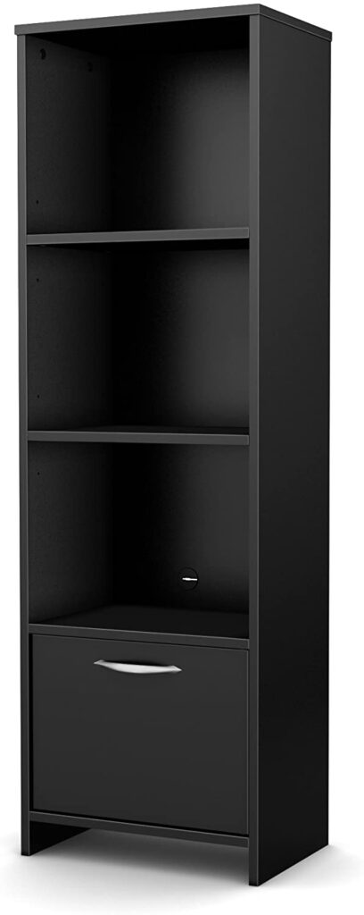 South Shore Narrow 3-Shelf Storage Bookcase
