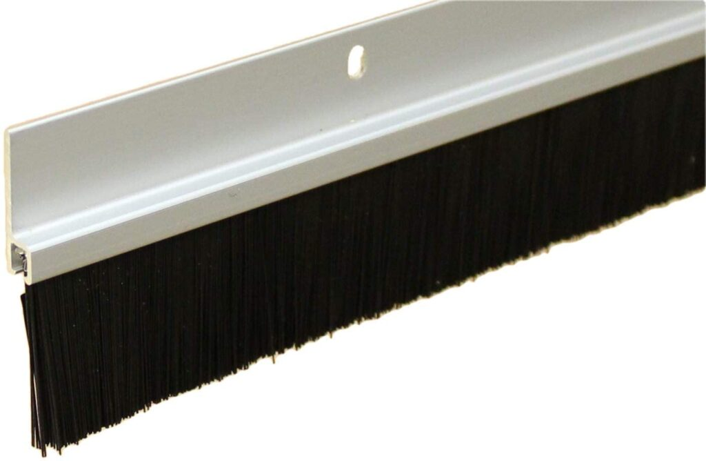 Heavy Duty Clear Anodized Brush Sweep