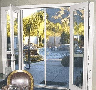 """CRL 98"""" White Retractable Screen Door Kit"""