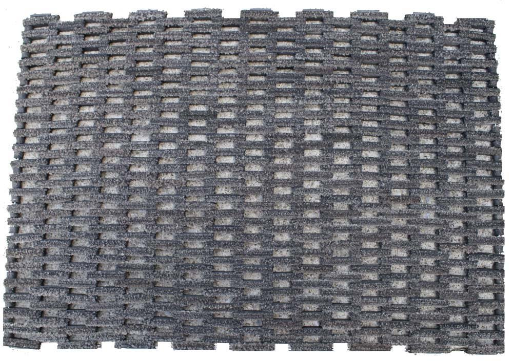 Durable Dura-Rug Recycled Fabric Tire-Link Outdoor Entrance Doormat